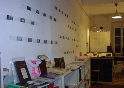 Lancement du poster de Lucien Suel, le 7 novembre 2009, Librairie Le lièvre de mars, Marseille