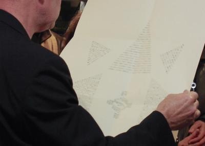 Lecture de Lucien Suel, lors du lancement de son poster, le 7 novembre 2009, Librairie Le lièvre de mars, Marseille