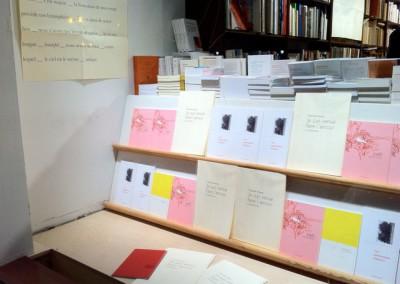Présentation de Contre-mur et du poster de Chantal Neveu à la Librairie Le Port de tête, Montréal, 13 janvier 2011.