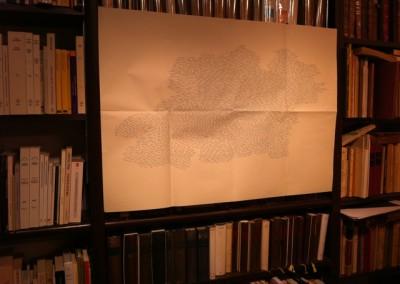 Présentation de Contre-mur et du poster de Chantal Neveu à la Librairie Le Port de tête, Montréal, 13 janvier 2011.<br /> Poster : Éric Giraud