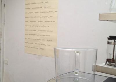 Lancement des posters de Marie-Luce Ruffieux et Dominique Meens et exposition des posters - Librairie histoire de l'œil, Marseille, 1er décembre 2012.<br /> Poster : Chantal Neveu