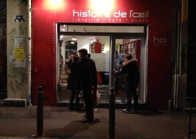 Lancement des posters de Marie-Luce Ruffieux et de Dominique Meens et exposition des posters - Librairie histoire de l'œil, Marseille, 1er décembre 2012.