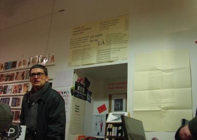 Présentation par Nicolas Tardy, lors du lancement des posters de Dorothée Volut et Ian Monk, librairie Le lièvre de mars, Marseille, 19 novembre 2011.