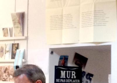 Lecture de Rémi Froger, lors du lancement des posters de Rémi Froger et de David Lespiau samedi 30 novembre 2013 à la Librairie Le Lièvre de Mars