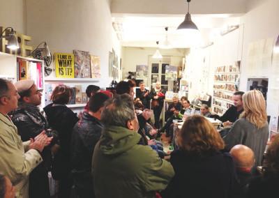 Lancement des posters de Rémi Froger et de David Lespiau samedi 30 novembre 2013 à la Librairie Le Lièvre de Mars