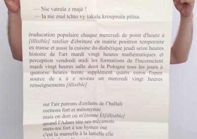 <i>trois tracts</i>, poster de Dominique Meens