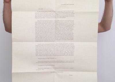 <i>L'écriture m'a donné une enveloppe</i>, poster de Dorothée Volut