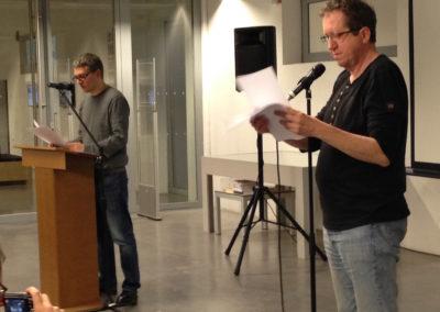 """Lecture de <a href=""""http://www.contre-mur.com/project/ian-monk/"""">Ian Monk</a> avec la participation de <a href=""""http://www.contre-mur.com/project/nicolas-tardy/"""">Nicolas Tardy</a> - Présentation des éditions Contre-mur au Frac Paca - 21 janvier 2017"""